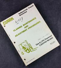 CLARK C300Y40 Forklift Planned Maintenance/Adjustment Procedures Manual service