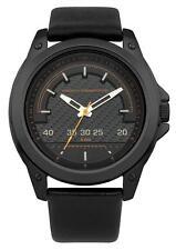 French Connection FC1193BB Black Dial black Leather Strap Men's Quartz Watch