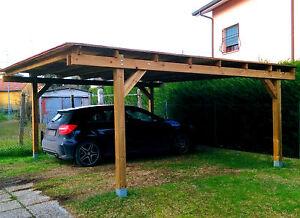 Pergola libera 5x5 in legno impregnato in autoclave e ferramenta zincata