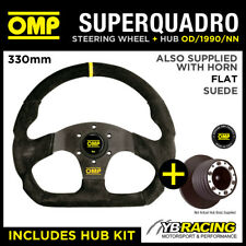 VW GOLF MK3 with A-BAG 91- OMP SUPER QUADRO FLAT BOTTOM STEERING WHEEL & HUB KIT