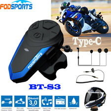 BT-S3 1000M 2Way Radio Intercomunicador Motocicleta Casco Bluetooth auricular Interphone