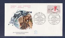 enveloppe 1er jour   sciences de la terre     Paris   1980