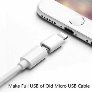 Micro USB to iPhone Adapter Converter  for Iphone Ipad Ipad Pro Ipod UK Stock