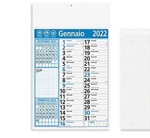 Calendario 2022 da Muro Parete Olandese Notes per la Casa e Ufficio Rubrica