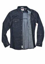 Wrangler Mens 2XL Tall Denim Western Shirt Long Sleeve Pearl Snap