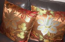 Clarence House Throw pillows JOSEPHINE woven fabric large floral custom new PAIR