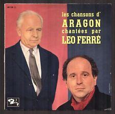 "LEO FERRE 25 CM ORIGINAL ""Les Chansons d'Aragon"" BARCLAY 80.138"