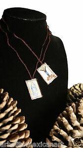Jesus Christ and Guadalupe Handcrafted Scapular/Escapulario/Mexican Folk Art Med
