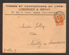 "ROUEN (76) USINE de TISSUS & CONFECTIONS en gros ""LEMERCIER & MERAY""  1922"
