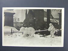 Snow Sculpture Civil War Monument Greenfield MA Real Photo Postcard RPPC c1910