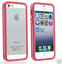 Red / Transparent Bumper Case - iPhone 5 5G 5s -  Rigid Hard Plastic . BRAND NEW