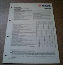 Inspektionsblatt Yamaha DT 80 LC2 Typ 53V Baujahr 1989