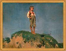 Hirtenknabe Franz von Lenbach Junge Hügel Wiese Sommer Kinder Hose B A2 01902