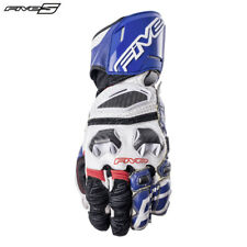 Five RFX Race White/Blue Motorbike Sports Gloves ADVANCED CARBON Technology