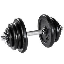 Manubrio Pesi Ghisa 25kg Palestra Set Peso Fitness Bilanciere Sport Nero Nuovo