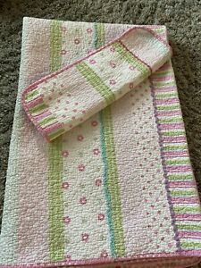 Cozy Line  Home Fashion 2 Piece Twin Quilt Girls Bedding Pink Polkadot Adorable!