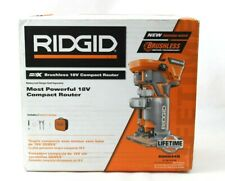 RidGid Brushless 18V Compact Router R86044B with Bag Brand New FREE SHIPPING