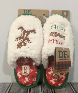 New DF Dearfoams HoildayScuff Slippers - Official Cookie Tester - Size Small 5-6