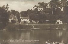 UK Worcester Dog and Duck Ferry on the Severn RPPC