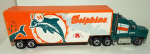 Matchbox Die Cast Ford Areomax Semi Tractor/Trailer Marked Miami Dolphins