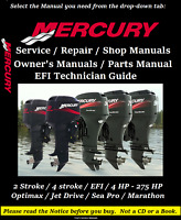 Mercury Outboard Engine Service Repair Shop Manual Owner's Manual 2 & 4 Stroke