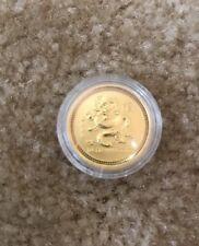 2000 Perth Mint Gold Coin $1000 Lunar Dragon series 1 1/4 Oz $25 Rare BU