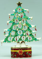 Stunning Christmas Large Xmas Tree Trinket Box Approx 22cm High