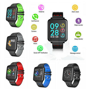 Bluetooth Smart Watch Fitness Tracker Pedometer for iPhone XS X Samsung S9 LG G7