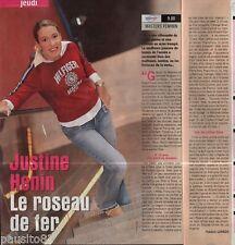 Coupure de presse Clipping 2003 Justine Henin (1 page 1/3)
