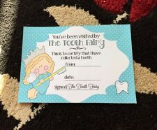 Tooth Fairy Certificate Blue