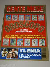 GENTE MESE=1994/3=STORIA YLENIA CARRISI=ROMINA POWER=AL BANO=OROSCOPO=ENRICO BAJ