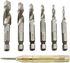 "Hex Shank Drill Bit Set 7pc 3-6.5mm Titanium-Coated 1//4/"" Hex Shank Pilot Bitd"