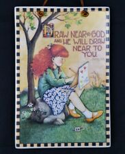 Mary Engelbreit Ceramic Wall Plaque Draw Near To God & He Will Draw Near To You