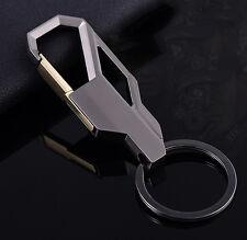 Fashion Men Alloy Key Chain Ring Keyfob Car Keyring Keychain Gift Grey New