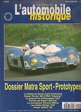 AUTOMOBILE HISTORIQUE 1 DOSSIER MATRA SPORT PROTOTYPES GP ALLEMAGNE 1957