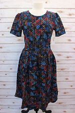 Large  LuLaRoe Amelia Dress Red Mustard Blue Green Black Stretchy Geometric NWT
