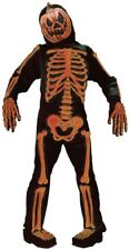 Boys Pumpkin Skeleton Jack O Lantern Halloween Fancy Dress Costume Outfit 7-12ys