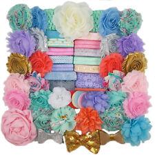 Mermaid - Large DIY Flower Headband Kit for 30 - Baby Shower - Birthday Party