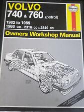 Haynes Car Manual Volvo 740 and 760 (Petrol) 1982-91 Service and Repair