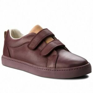 BNIB Clarks Boys City Oasis Burgundy Leather Shoes