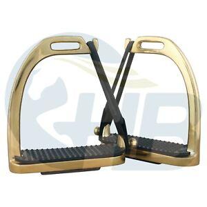 Gold Peacock Safety Stirrups Stainless Steel Stirrups Gold Stirrups