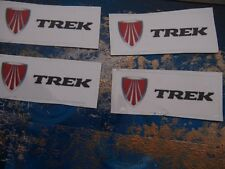 TREK MTB BIKE AUFKLEBER 4- teilig weiss schwarz 5,5 cm x 2,0 cm