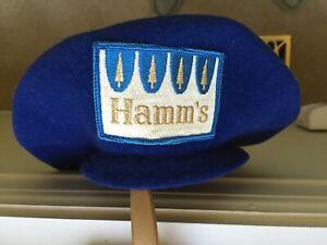 Hamm's beer tree label collectible 50s beret Navy wool felt