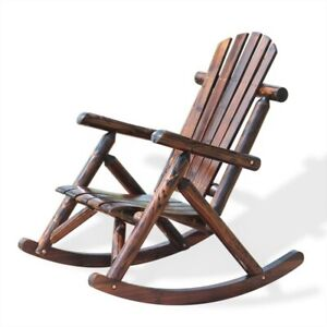 Patio Adirondack Wood Bench Chair Rocking Chair Contemporary Solid Wood