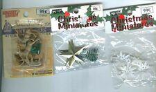 Hobby Lobby Christmas Miniatures Snowflakes Stars Reindeer NIP New in Package