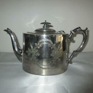 Silver Plated Teapot by James Dixon & Sons. Sheffield England. EPBM. Victorian /