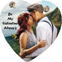 Valentine's Day Gift Personalised photo reproduced - printed onto a slate heart