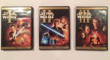 STAR WARS PREQUEL TRILOGY Episodes 1 2 & 3 - 6-Disc DVD Set Near Mint