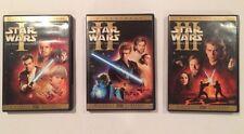 STAR WARS PREQUEL TRILOGY Episodes 1 2 & 3 - 6-Disc DVD Set Near Mint