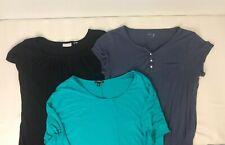 Lot of 3 Womens Shirts Size M Blouse Top Short Sleeve Express GapBody Nyc Shirt